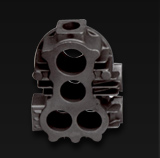 Cast Iron Cylinder Head Used in an Air Compressor Assembly